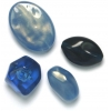 Lucite Assorted Large Beads Mix Montana Blues - 72 Grams